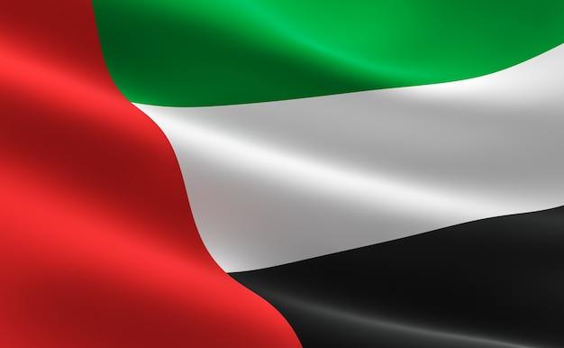 flag of united arab emirates illustration of the uae flag waving