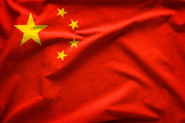 Flag of the peoples republic of china Premium Photo