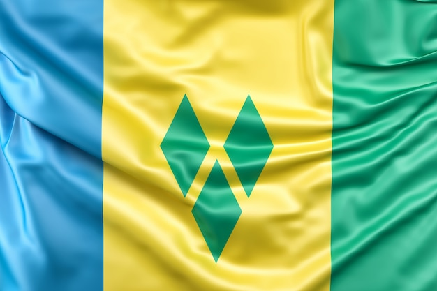 Flag of saint vincent and the grenadines Free Photo