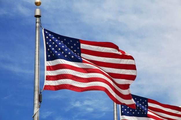 Flag of usa, washington city, united states Premium Photo