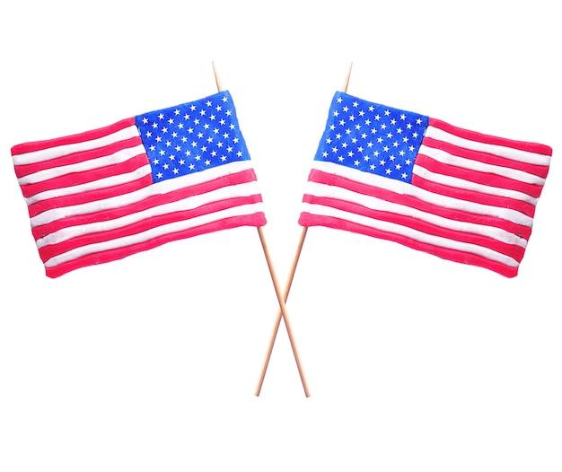 Флаг сша Premium Фотографии