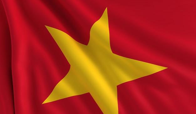 Flag of vietnam Premium Photo