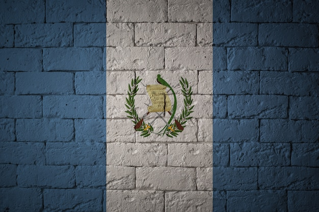 Flag with original proportions. closeup of grunge flag of guatemala Premium Photo