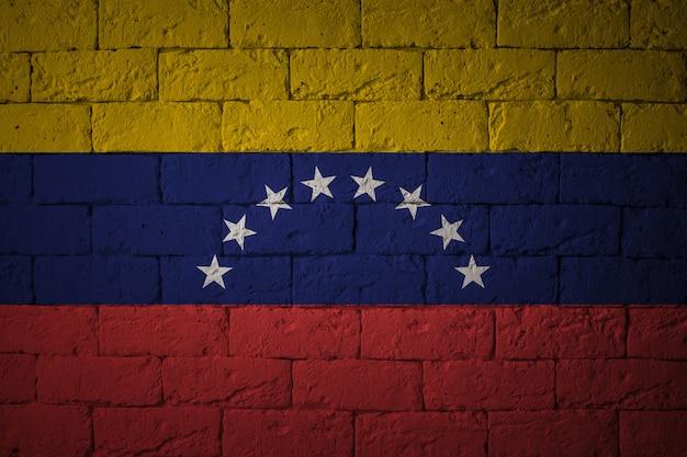 Флаг с оригинальными пропорциями. крупным планом гранж флаг венесуэлы Premium Фотографии