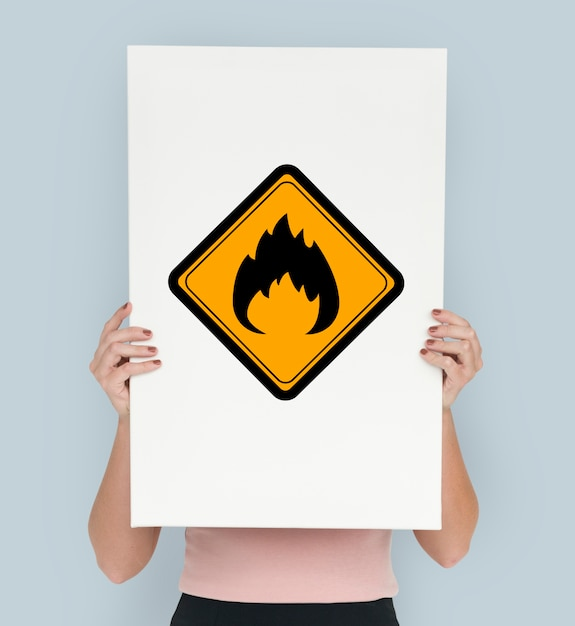 Flammable Sign Caution Warning Sign Symbol Photo Premium Download
