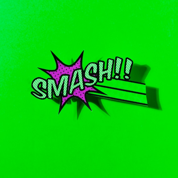 Flat illustration of comic boom smash vector icon for web on green backdrop Free Photo