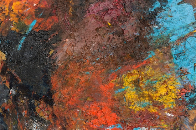 Flat lay artistic copy space abstract painting Free Photo