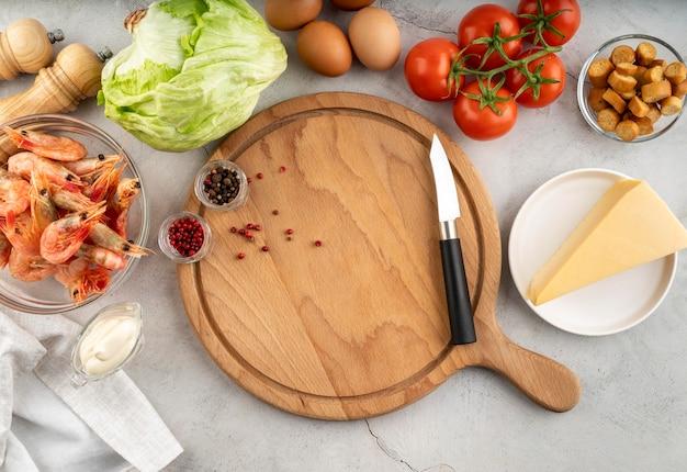 Плоский ассортимент вкусной еды и ингредиентов Бесплатные Фотографии