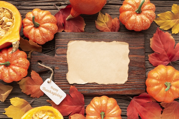 Flat lay assortment with food on wooden background Free Photo
