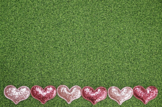 Flat-lay background for valentine's day, love, hearts, gift box copy space Premium Photo