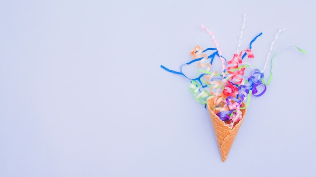 Flat lay birthday composition with copyspace Free Photo