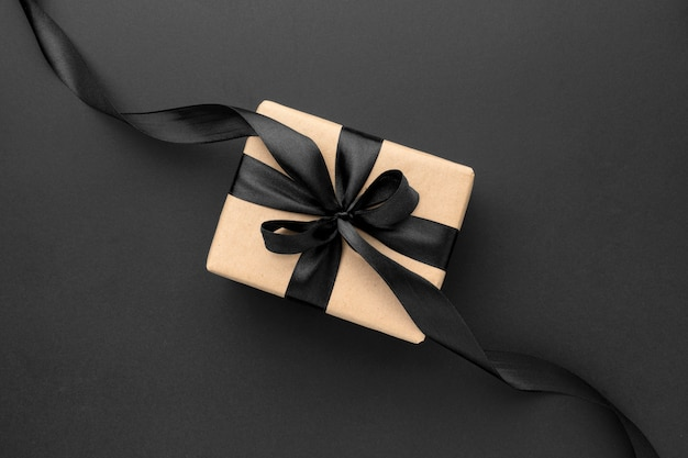 Плоская планировка черной пятницы с подарками Premium Фотографии