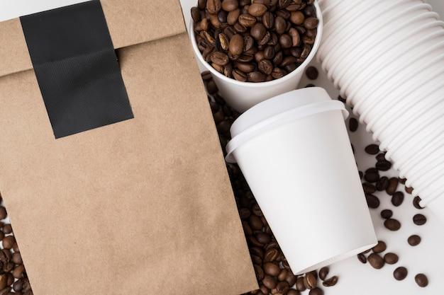 Плоские элементы брендинга кофе Бесплатные Фотографии