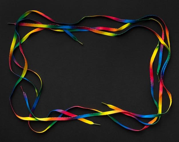 Плоская разноцветная кружевная рамка Бесплатные Фотографии