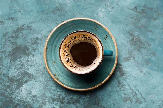 Flat lay креативный кофейный ассортимент Premium Фотографии