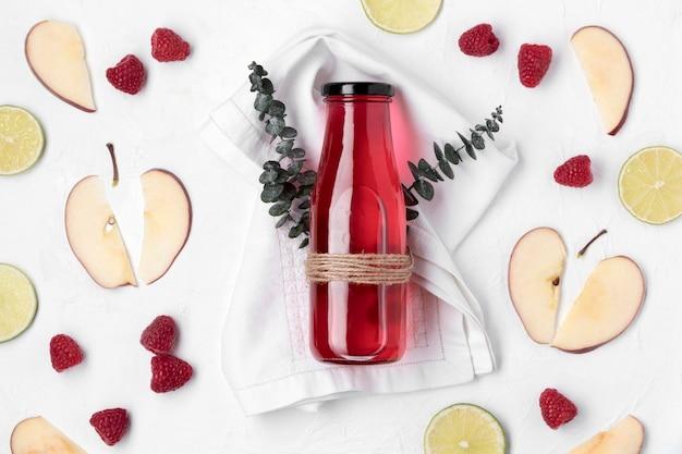 Bevanda alla frutta disintossicante piatta Foto Gratuite
