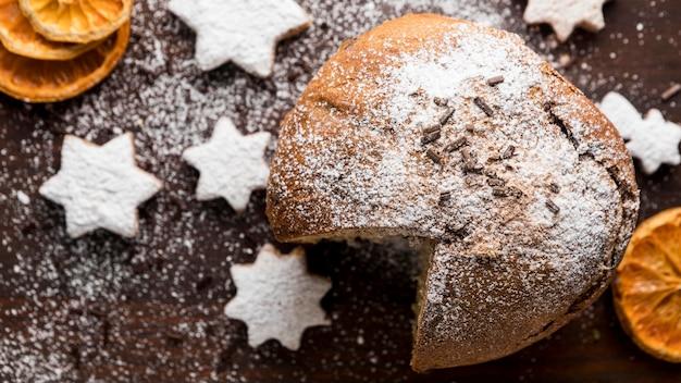 Плоская планировка праздничных рождественских вкусностей Бесплатные Фотографии