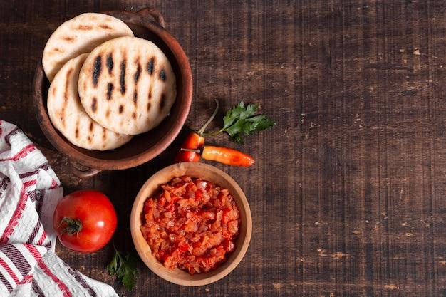 Расположение рамок для еды Бесплатные Фотографии