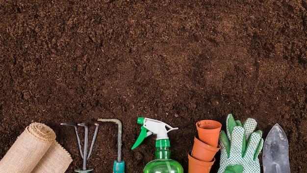 Flat lay gardening concept Free Photo
