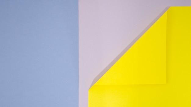 Flat lay geometric shapes background Free Photo