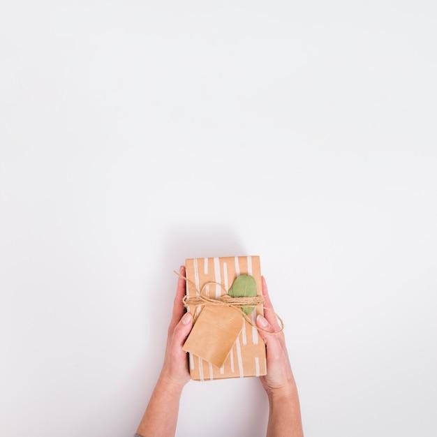 Flat lay gift concept Premium Photo