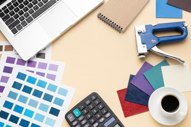 Плоская планировка графического дизайнера Бесплатные Фотографии