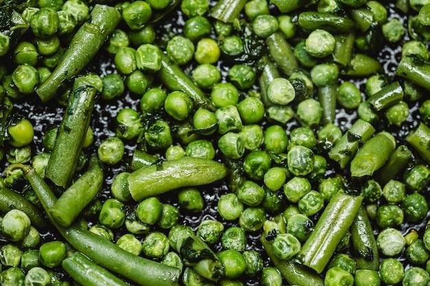 Плоский зеленый горошек фон Бесплатные Фотографии