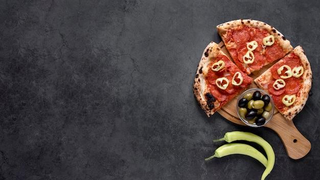 フラットレイアウトイタリア料理フレーム 無料写真