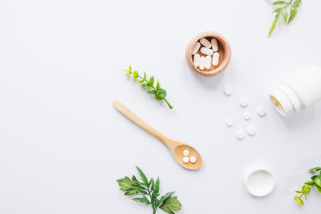 Flat lay medical composition Free Photo