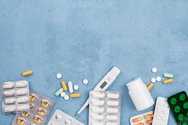 Плоская планировка медицинских элементов Бесплатные Фотографии