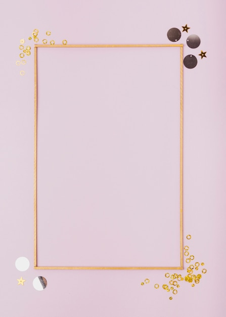 Flat lay minimalist frame with copy space Free Photo