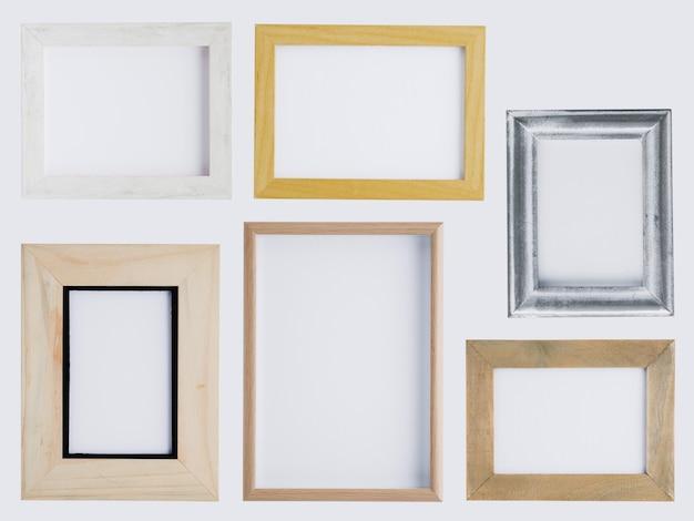 Flat lay minimalist frames arrangement Free Photo