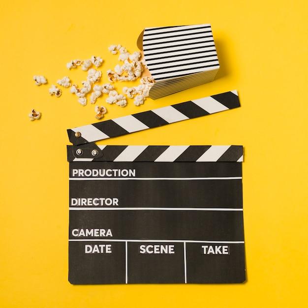 Ardesia cinematografica piatta Foto Gratuite