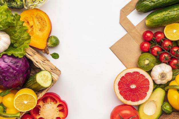 Плоская планировка ассортимента овощей Бесплатные Фотографии