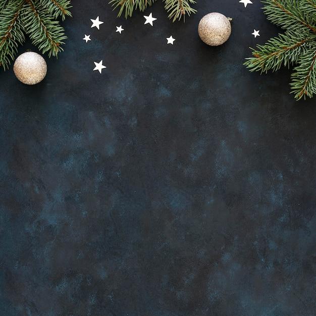 美しいクリスマスのコンセプトのフラットレイ Premium写真