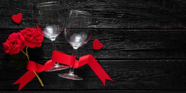Плоская планировка красивой концепции дня святого валентина Бесплатные Фотографии