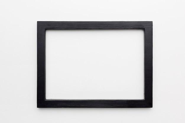Плоская планировка черной рамки с копией пространства Premium Фотографии