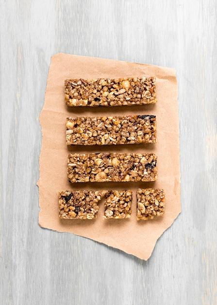 Плоская кладка зерновых батончиков Бесплатные Фотографии