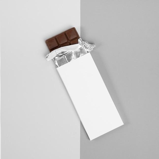 Плоская планировка упаковки шоколадных батончиков Бесплатные Фотографии