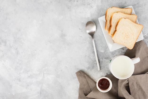 Плоская планировка вкусного завтрака Бесплатные Фотографии