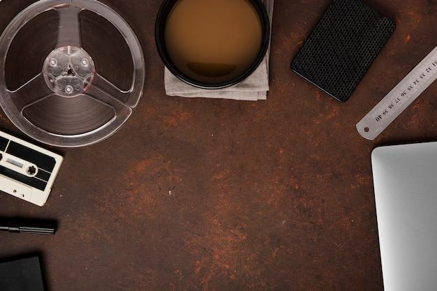 Плоская планировка стола с копией пространства Бесплатные Фотографии