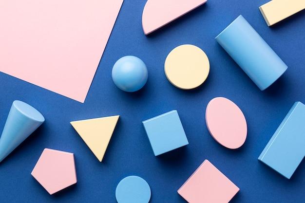 幾何学的形状のフラットレイ 無料写真