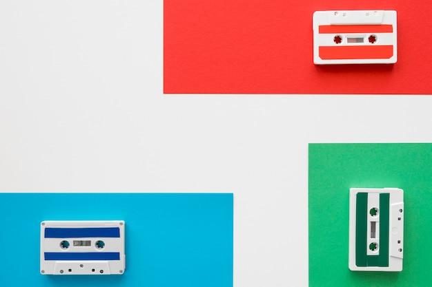 Плоская планировка музыкальной концепции с копией пространства Бесплатные Фотографии