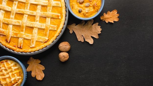 Плоский тыквенный пирог на день благодарения Бесплатные Фотографии