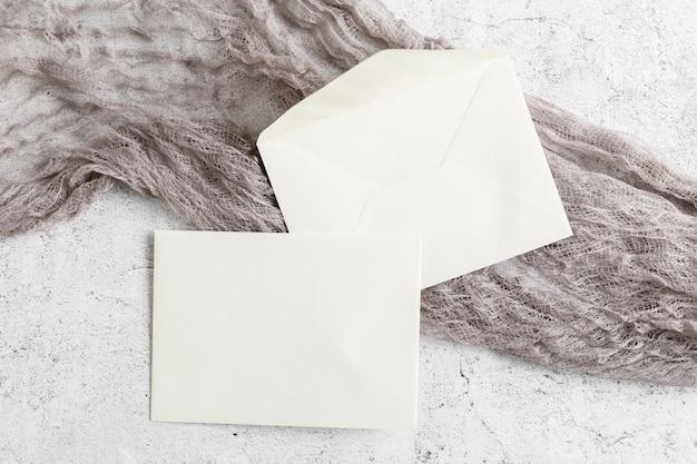 コピースペースと結婚式の招待状のフラットレイアウト 無料写真