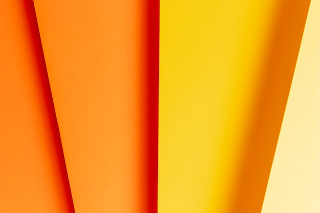 Flat lay pattern made of different shades of warm colors close-up Free Photo