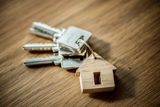 Flat lay of real estate concept Free Photo