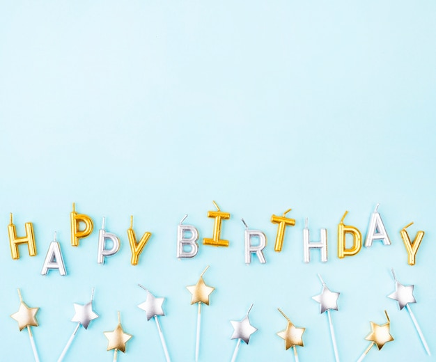 Свечи на день рождения в форме звезды Бесплатные Фотографии