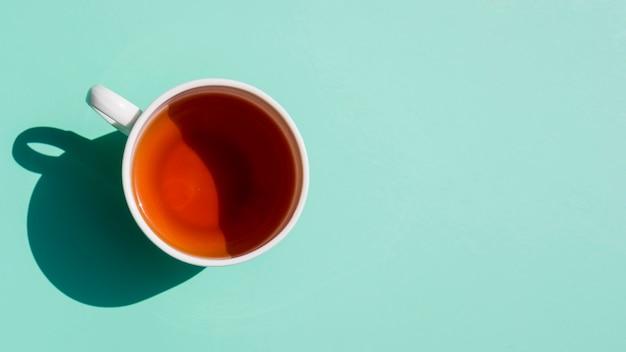 Flat lay tea cup still life Free Photo