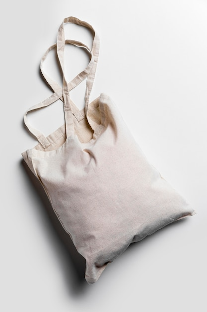 Flat lay tote bags arrangement Free Photo